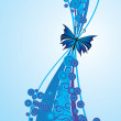 Blue butterfly — Stock Vector #25005825