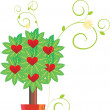 Hearts tree vector image - Stock Vector