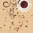 Royalty-Free Stock Vector Image: Coffee brown grunge background