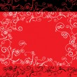 Vector red ornate backdrop — Stockvectorbeeld