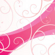 Pink ornate background — Vektorgrafik