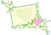 Heart with flowers pastel — Stock Vector