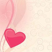 Ilustração em vetor canto coração rosa — Vetorial Stock