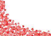 Ilustración de vector de esquina de corazón rojo — Vector de stock
