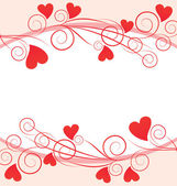 Marco gráfico de corazones rojos — Vector de stock