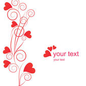 Valentine background with red hearts — Stock Vector