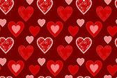 Heart textures seamless — Stock Vector