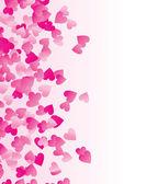 Pink heart corner — Stock Vector