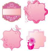 Conjunto de vetores de quadros retrô rosa — Vetorial Stock