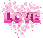 Texto de vetor de amor — Vetorial Stock