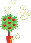 Hearts tree vector image — Stock Vector