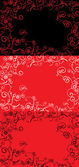 Vector red ornate backdrop — Stock Vector