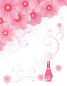 Pink fragrance vector image — Stock Vector