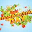 Vector de stock : Card Happy Thanksgiving