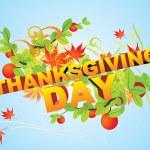 Joyeux thanksgiving carte — Vecteur