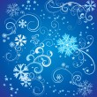 Christmas vector border snowflake card — Stock Vector #25274659