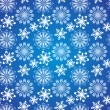 Christmas vector border snowflake card — Stock Vector #25274663
