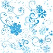 Christmas vector border snowflake card — Stock Vector #25274677