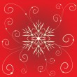 Christmas vintage snowflake card illustration - Stock vektor