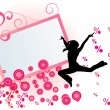 Girls dancer cool grunge idea vector - Stock Vector