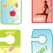 Sale and shopping bags — Imagen vectorial