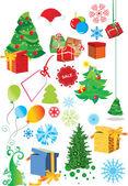 Christmas holiday card — Stock Vector