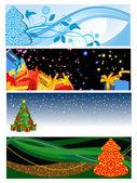 Vakantie kerstkaart — Stockvector