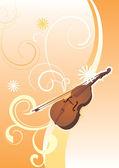 Violino de vetor no jardim primavera — Vetorial Stock
