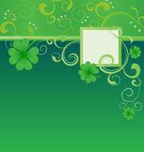 Vector green Patrick's day shamrock or clover — Stock Vector