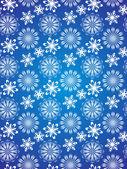 Tarjeta de navidad vector frontera copo de nieve — Vector de stock