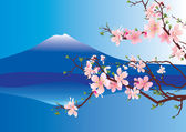 Vector sakura or cherry blossoming tree — Stock vektor
