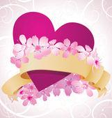 Ilustración de día de stylevalentines corazón de color rosa para el amor — Vector de stock