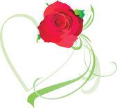 Rood hart vintage stylevalentines dag illustratie voor liefde — Stockvector