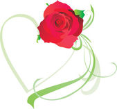 Rotes herz vintage stylevalentines tag illustration für liebe — Stockvektor