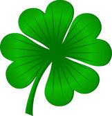 Four leaves luck clover green — Stock Vector