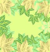 Marco de vector con hojas — Vector de stock