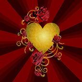 Corazón rojo vector — Vector de stock