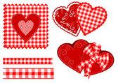 红色矢量的心 — 图库矢量图片