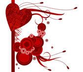 红色的心角矢量图 — 图库矢量图片