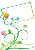 Vektor banner med blommor — Stockvektor