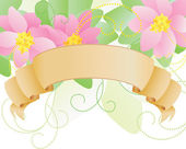 Vector banner with flowers — Stock Vector