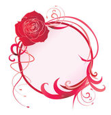 Vector rose round vector curved image — Vector de stock