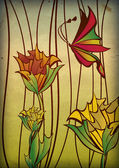 Butterfly stained-glass — Stock Photo