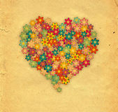 Blommor hjärta — Stockfoto