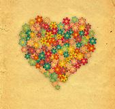 Bloemen hart — Stockfoto