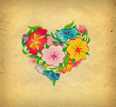 Flowers heart — Stock Photo