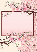 Pink japan cherry blossom — Vector de stock