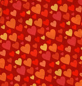 Red hearts border on old grunge paper — Stock Photo