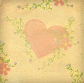 Hearts textured paper vintage style background — Stock Photo