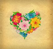 Kwiaty serca — Zdjęcie stockowe